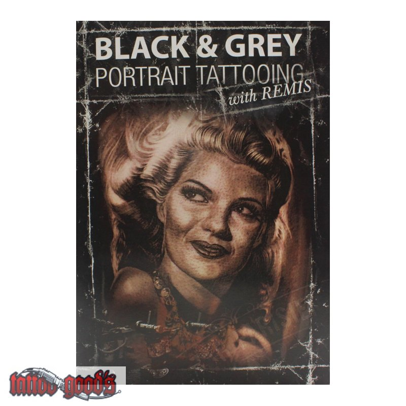 Dvd black grey portrait tattooing with remis for How to tattoo dvd