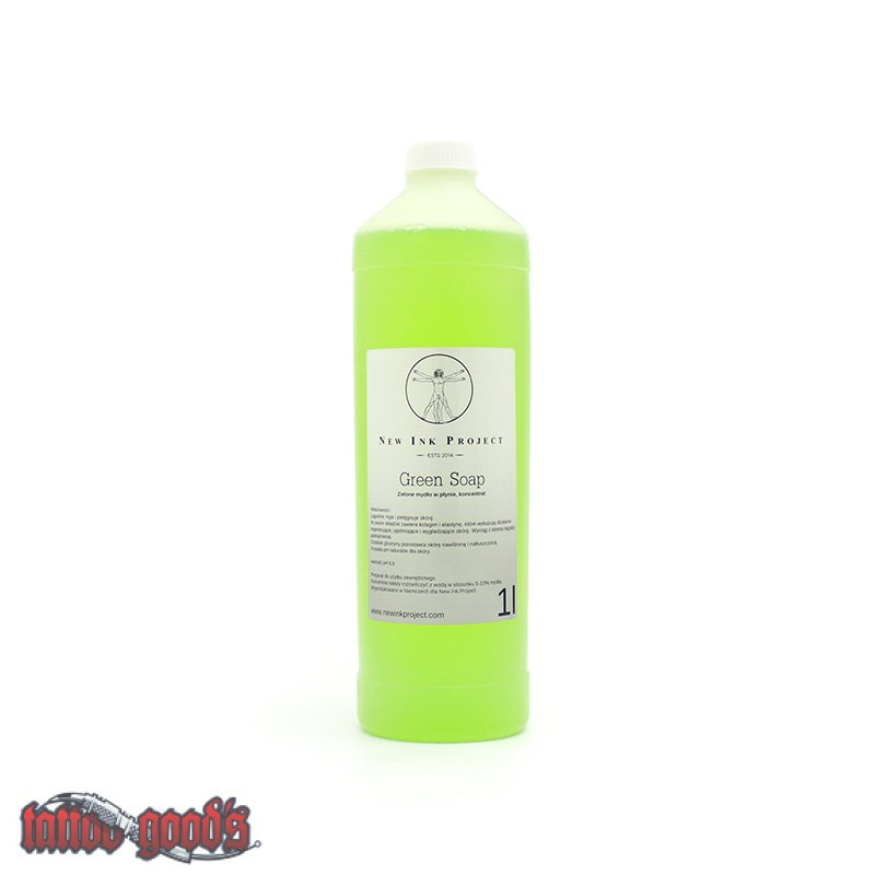 New ink green soap 33 82 oz for Soap for new tattoo