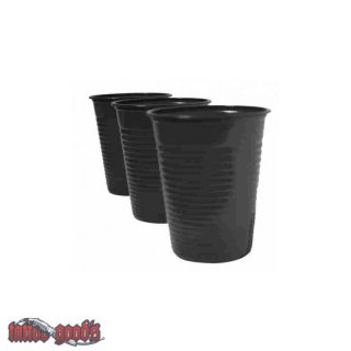 100 Plastic Cup - black [6 oz]