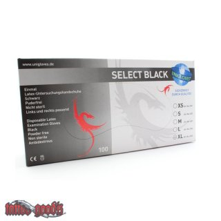 Latex Gloves Select Black M
