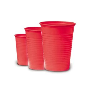 100 Plastikbecher - red [180 ml]